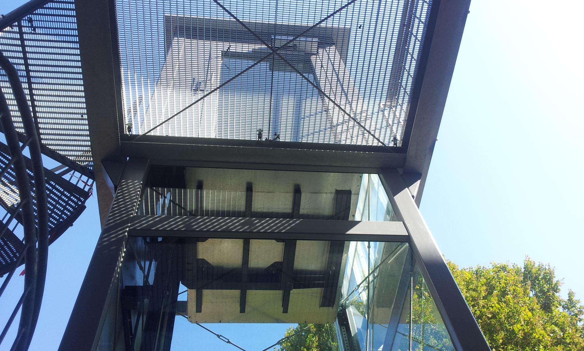 Detailansicht Zugang Lift über Metallelemente