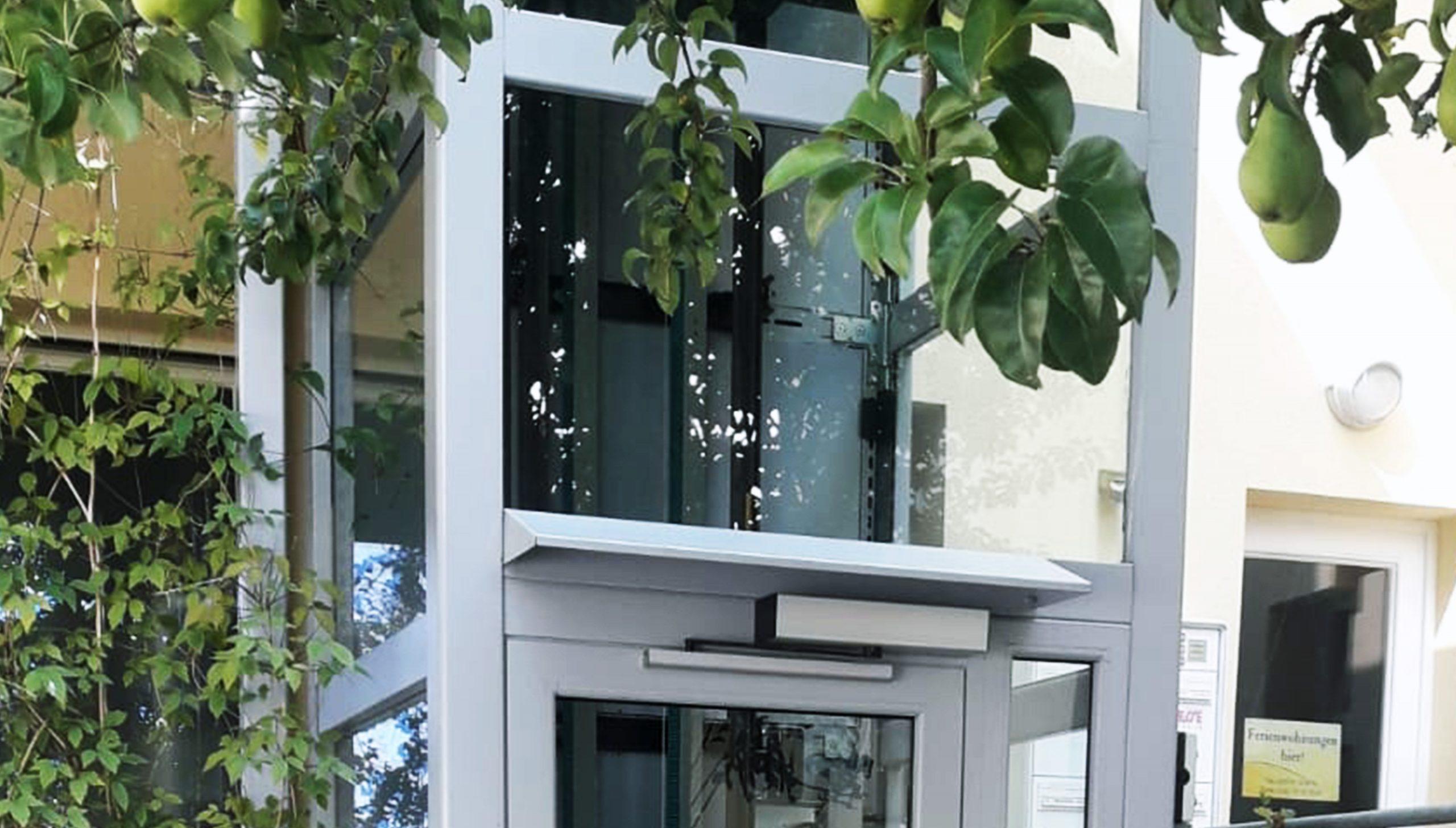 Detailansicht Glasaufzug